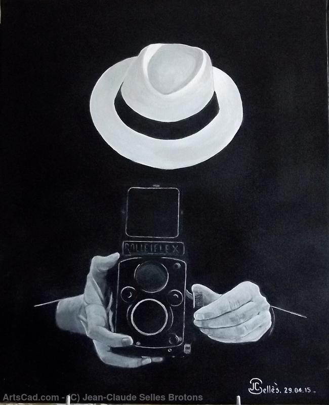 The photographer acryl by Jean-Claude Selles Brotons | Print On Canvas | ArtsDot.com