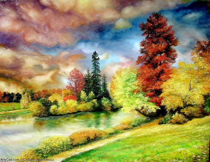 Autumn in Park by Sorin Apostolescu | Print On Canvas | ArtsDot.com