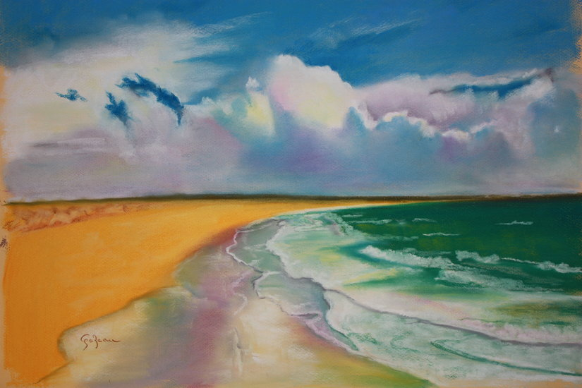 sky and sea by Chantal Gazeau | Canvas Print | ArtsDot.com