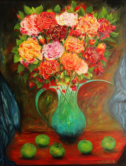 Bouquet of twelve roses hand made by Rami Kapiletti | Print On Canvas | ArtsDot.com