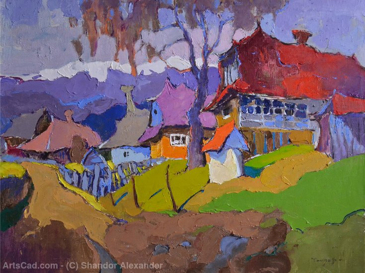 Spring in the village / Spring in the village butter sobre tela by Shandor Alexander | Canvas Print | ArtsDot.com