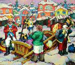 Russian Impressionism - The morning before the battle.