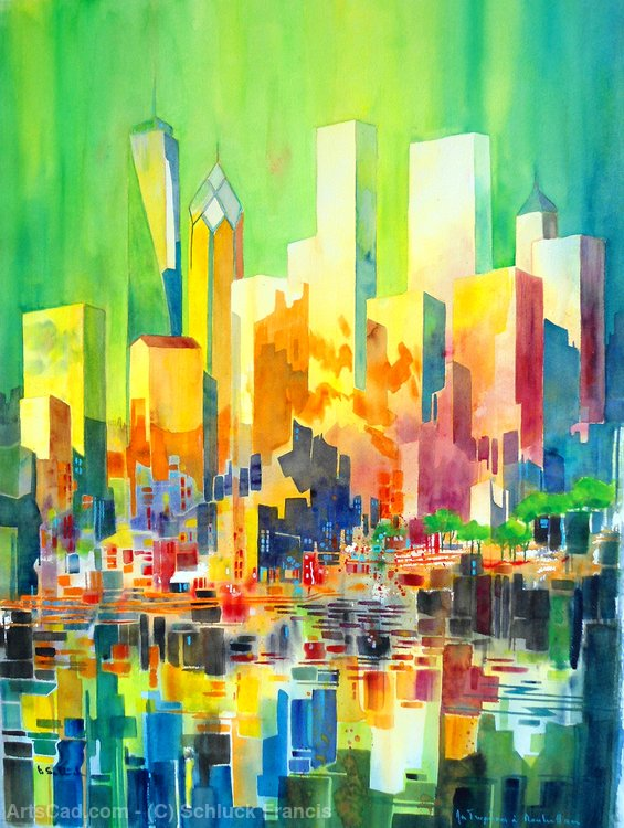 my tropisms in Manhattan by Schluck Francis | Giclee On Canvas | ArtsDot.com