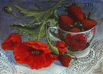 Кудряшова Галина - Poppies and strawberries.