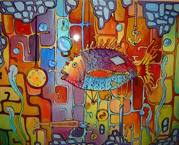 fish Abstract by Iryna Götz | Wall Art | ArtsDot.com