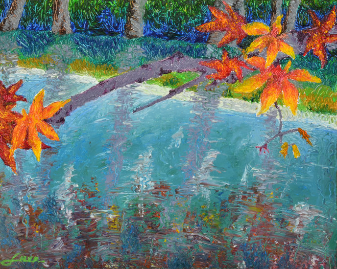 "Landscape Painting—""Autumn Brilliance"" by Luxo Fine Art 