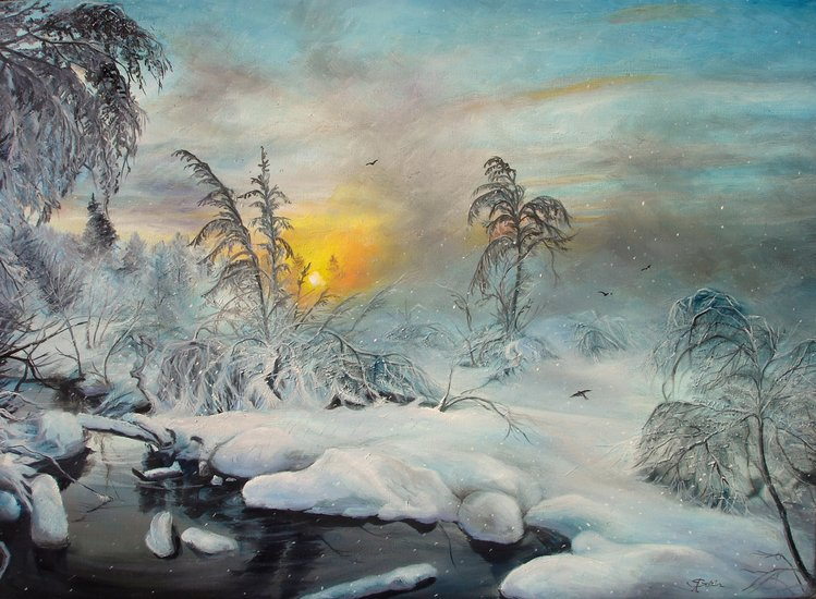 After Winter Storm by Sorin Apostolescu | Giclee On Canvas | ArtsDot.com
