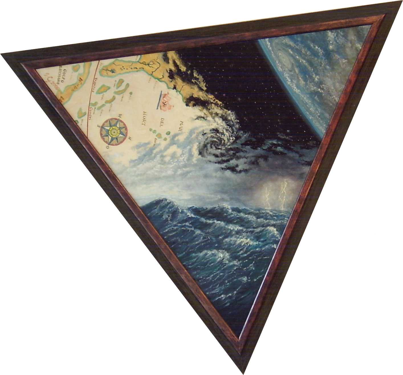 The Bermuda Triangle oils on canvas by Igors Gengeris