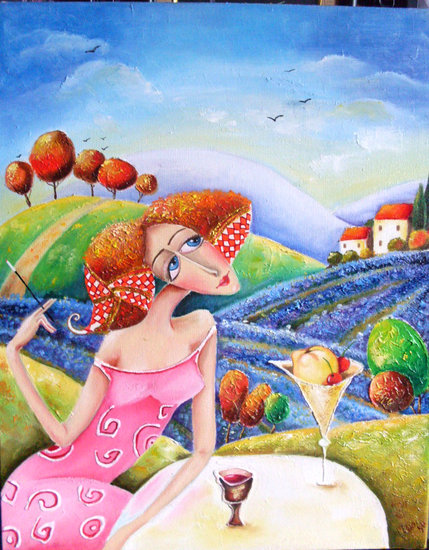 `Provence` painting— sobre tela by Юлия Ионова | Print On Canvas | ArtsDot.com
