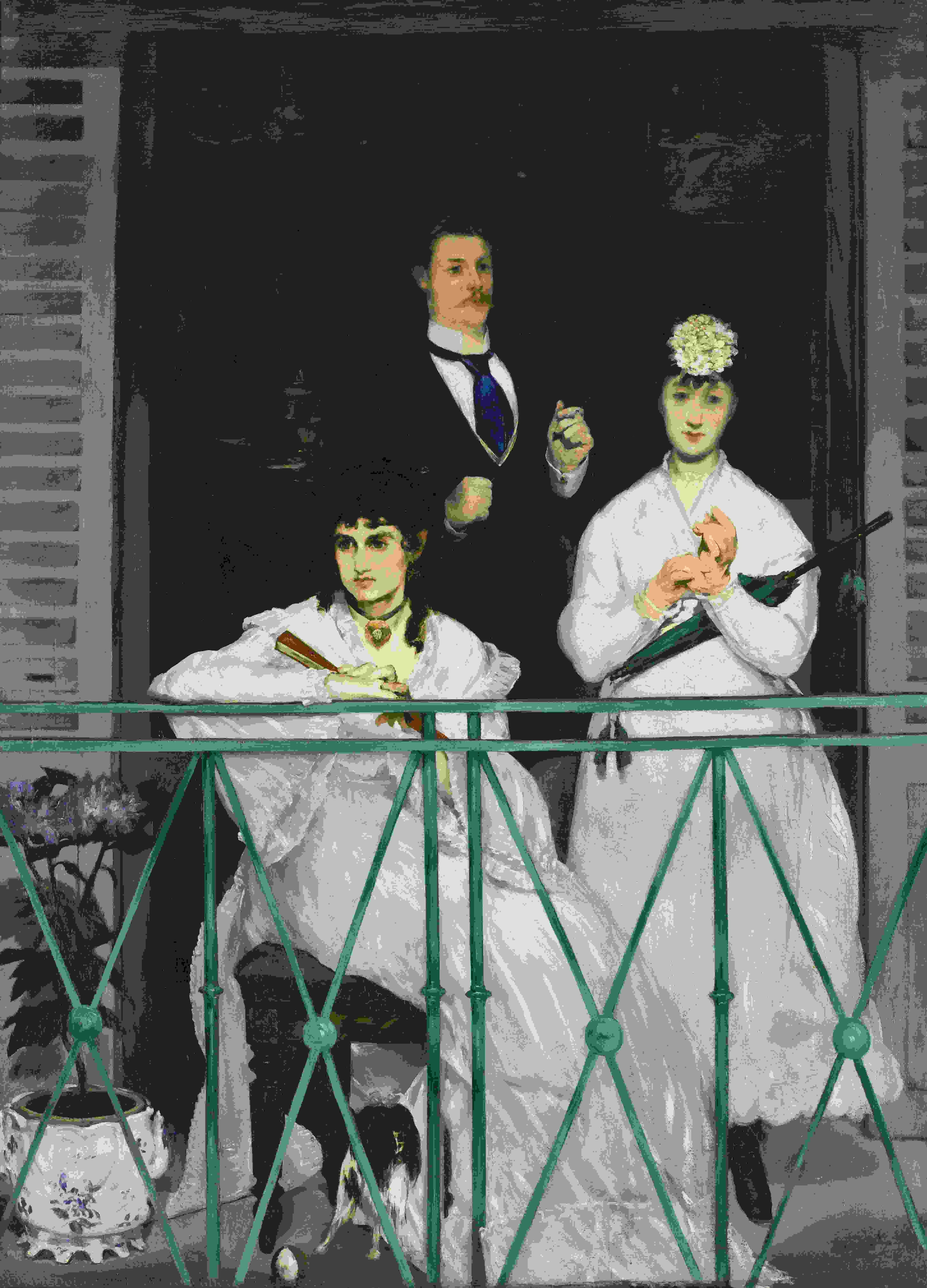 The Balcony, 1869 by Edouard Manet (1832-1883, France) | Museum Art Reproductions Edouard Manet | ArtsDot.com