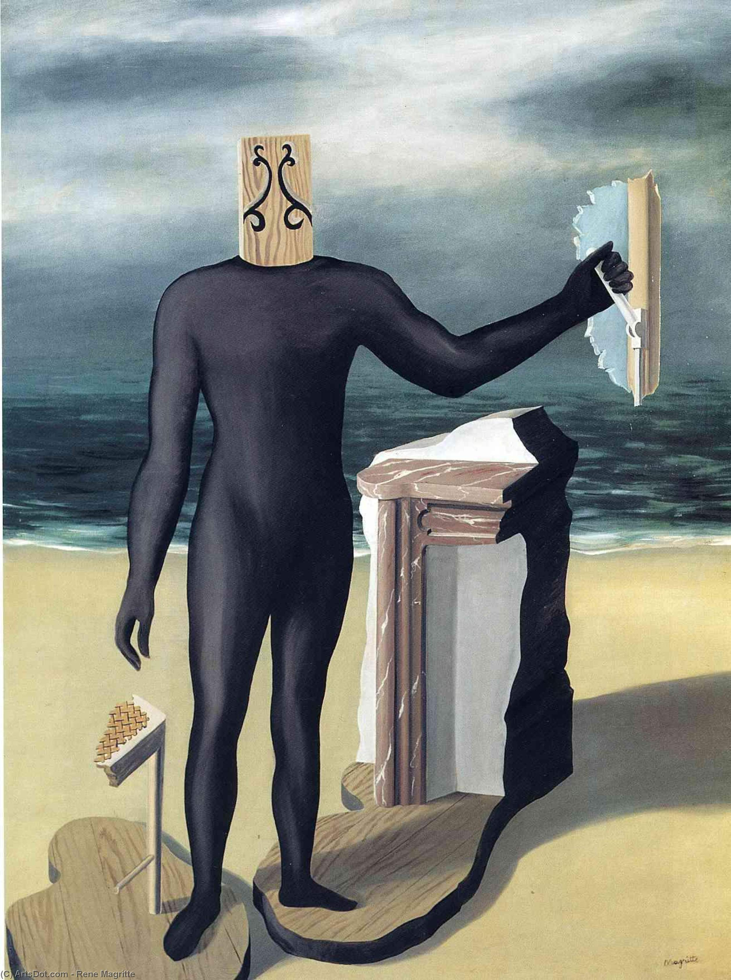 The man of the sea, 1927 by Rene Magritte (1898-1967, Belgium) | Museum Art Reproductions | ArtsDot.com