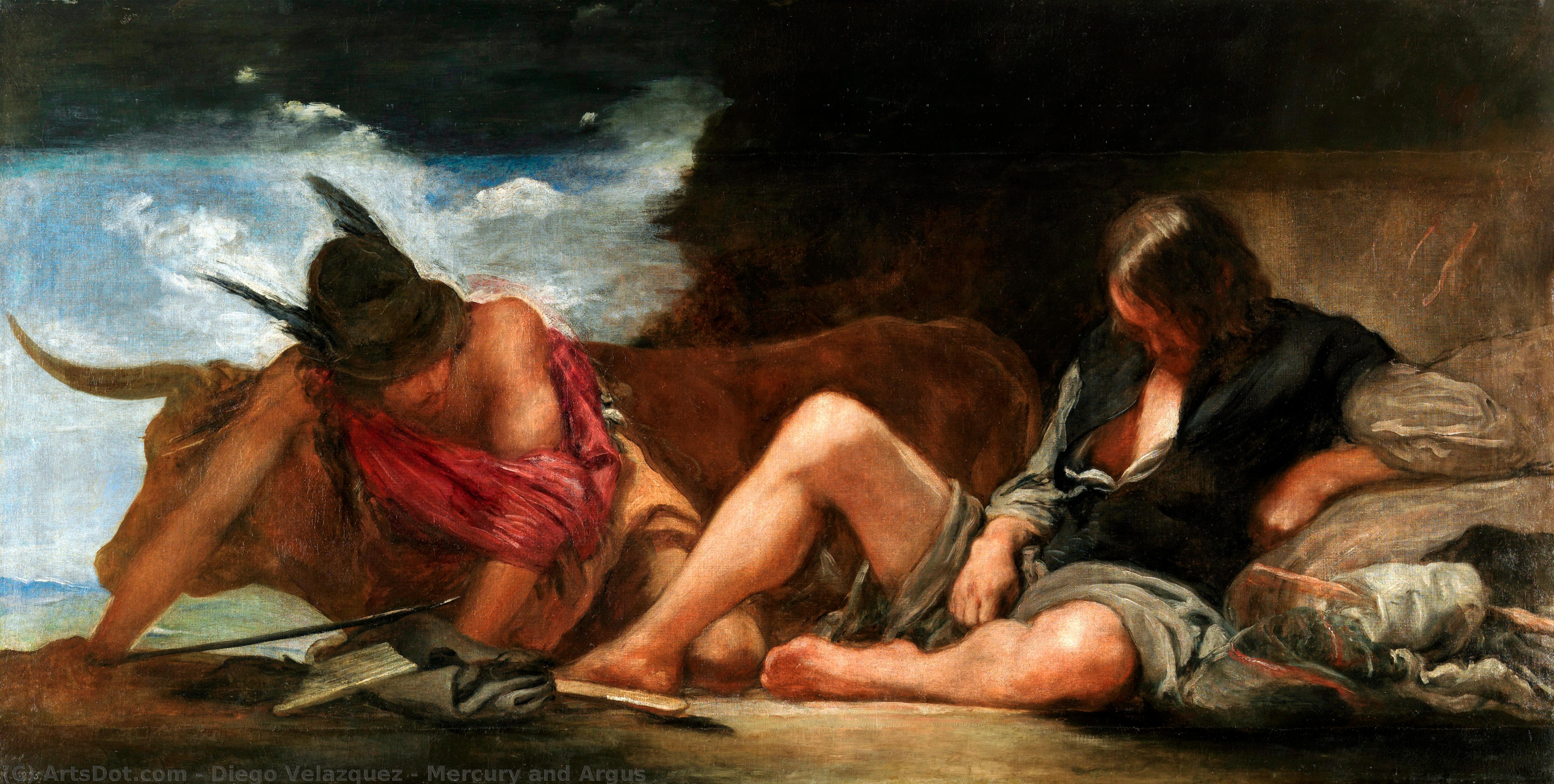 Order Oil Painting : Mercury and Argus, 1659 by Diego Velazquez (1599-1660, Spain) | ArtsDot.com