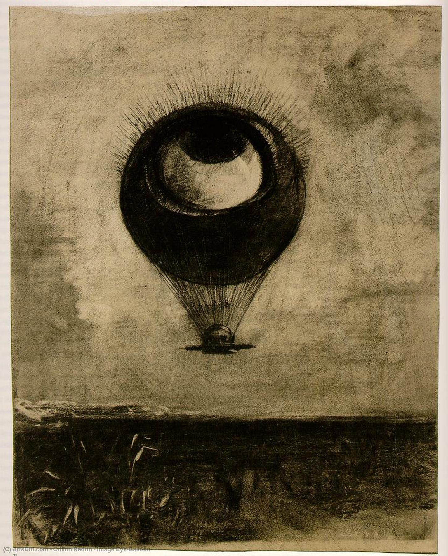 Order Art Reproduction : Image Eye-Balloon by Odilon Redon (1840-1916, France) | ArtsDot.com