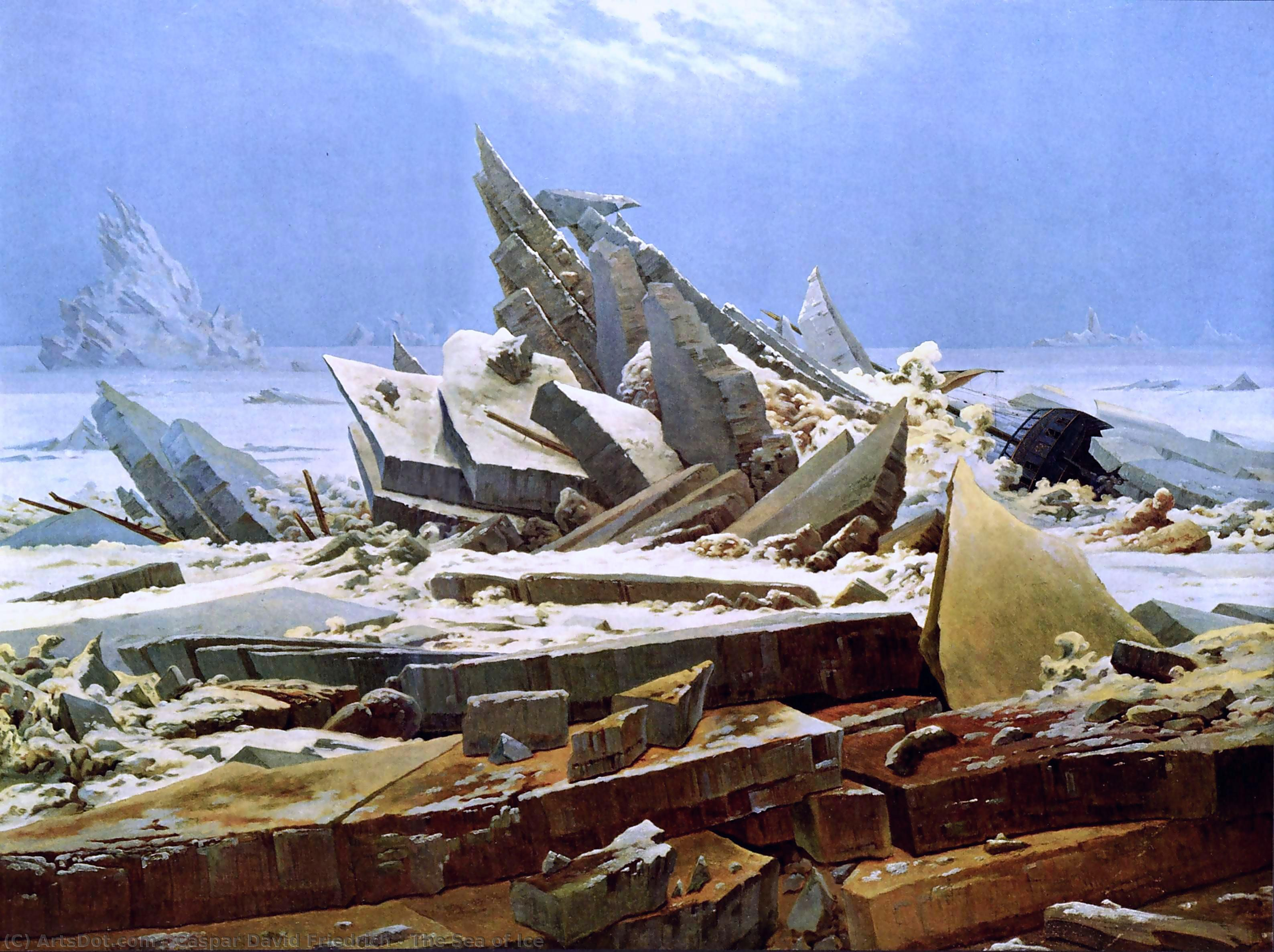 The Sea of Ice, 1824 by Caspar David Friedrich (1774-1840, Germany) | Art Reproductions Caspar David Friedrich | ArtsDot.com