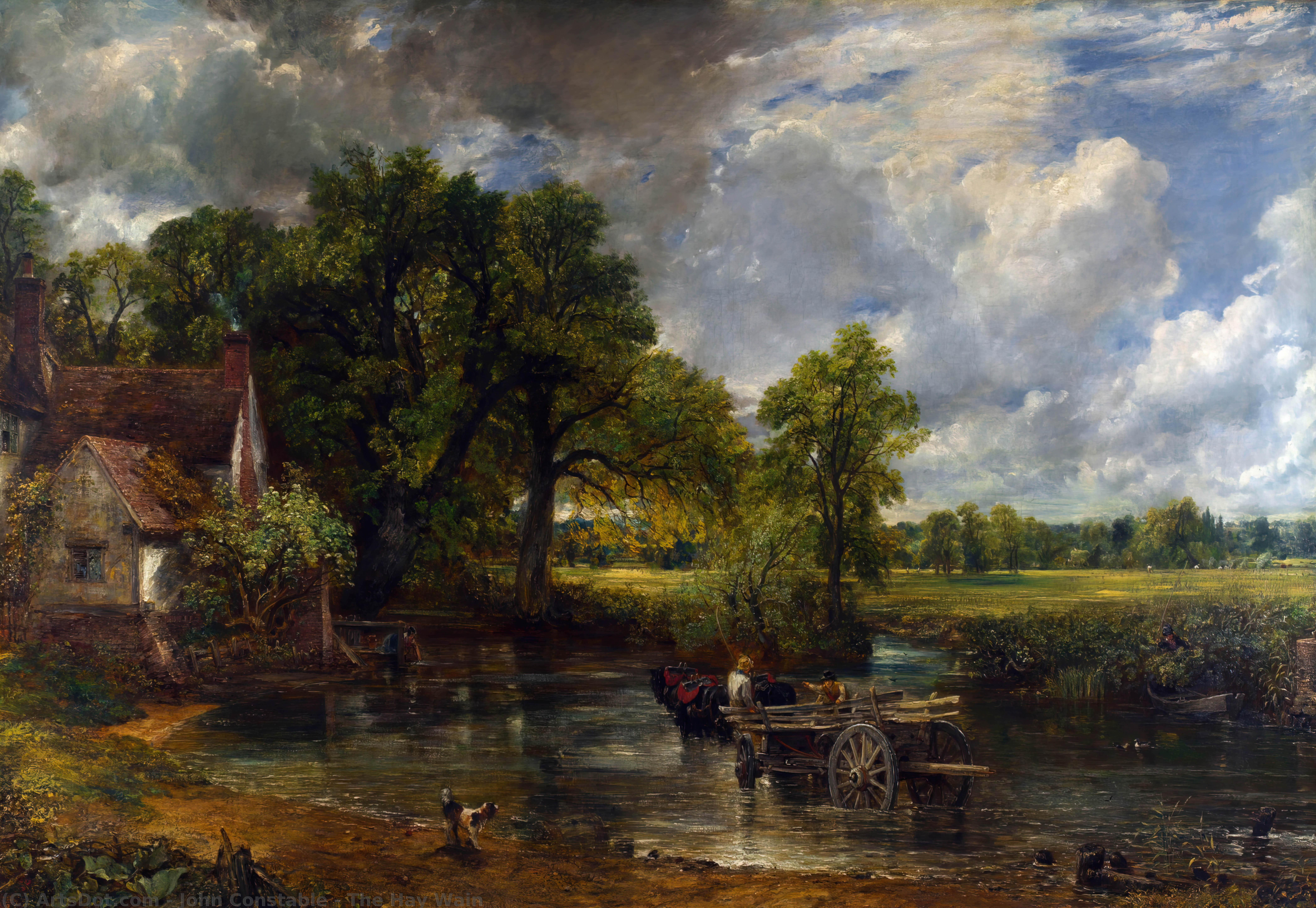 Order Art Reproduction : The Hay Wain, 1821 by John Constable (1776-1837, United Kingdom) | ArtsDot.com