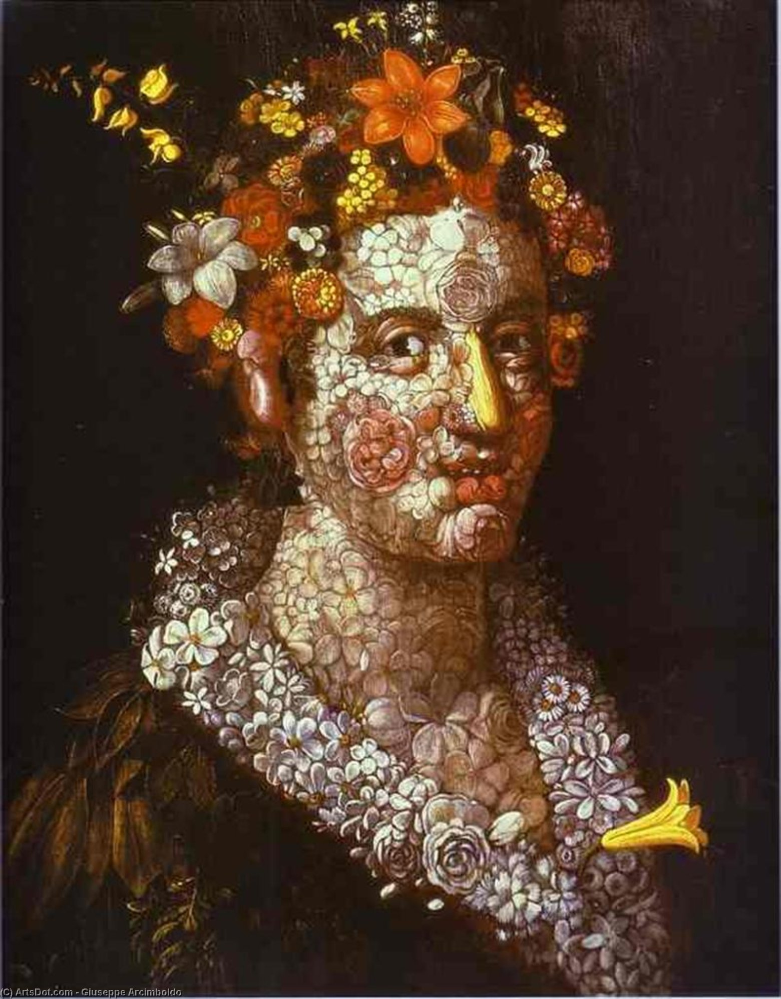 Order Art Reproduction : Flora, 1588 by Giuseppe Arcimboldo (1527-1593, Italy) | ArtsDot.com