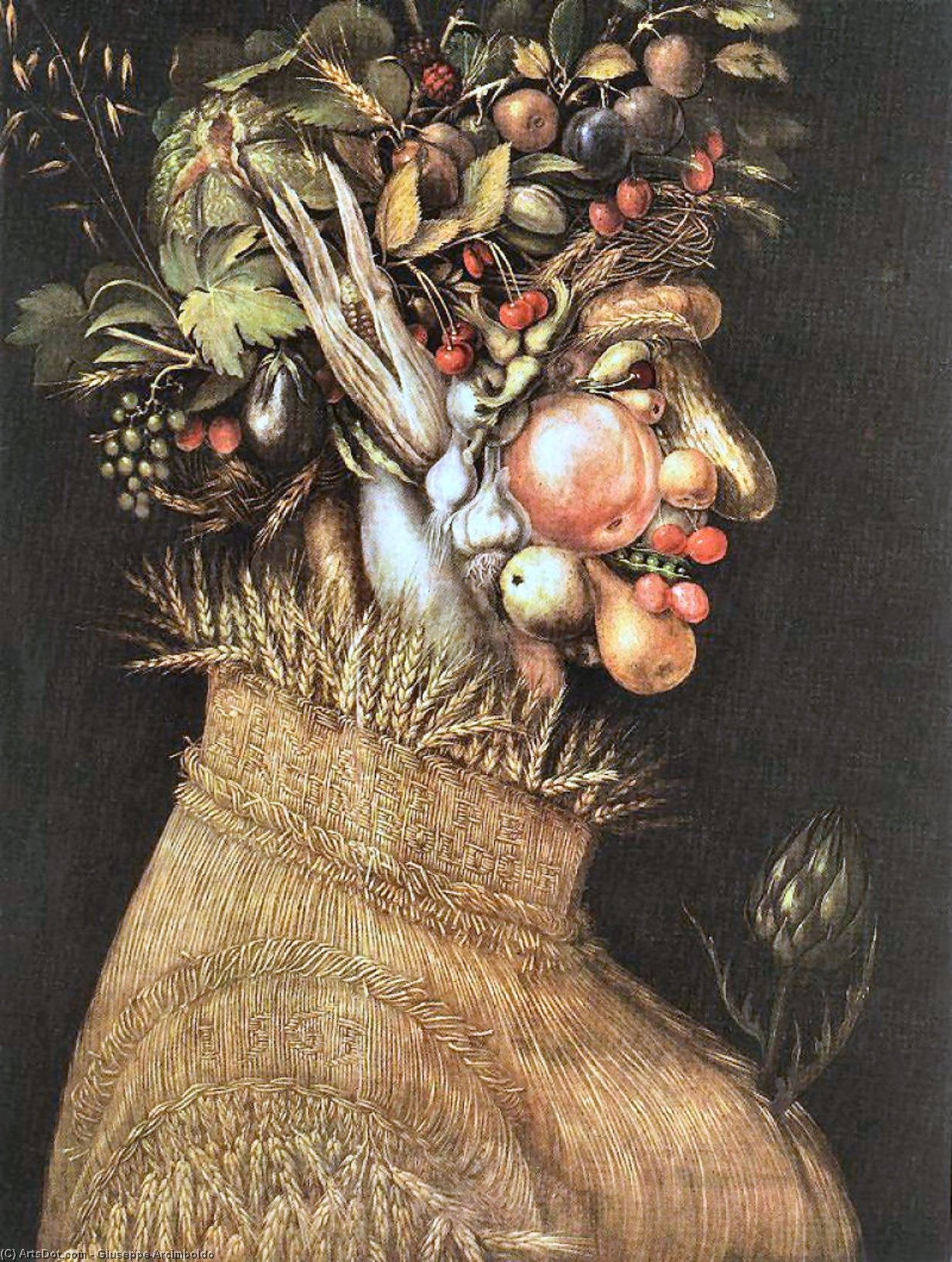 Buy Museum Art Reproductions : Summer 1, 1563 by Giuseppe Arcimboldo (1527-1593, Italy) | ArtsDot.com