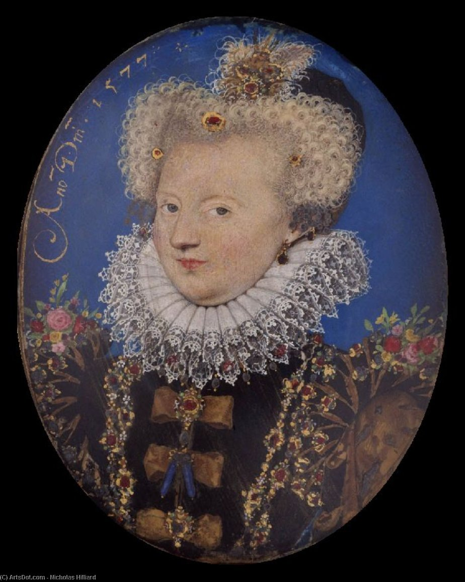 Marguerite of Navarre by Nicholas Hilliard (1577-1619, United Kingdom) | Museum Quality Reproductions | ArtsDot.com
