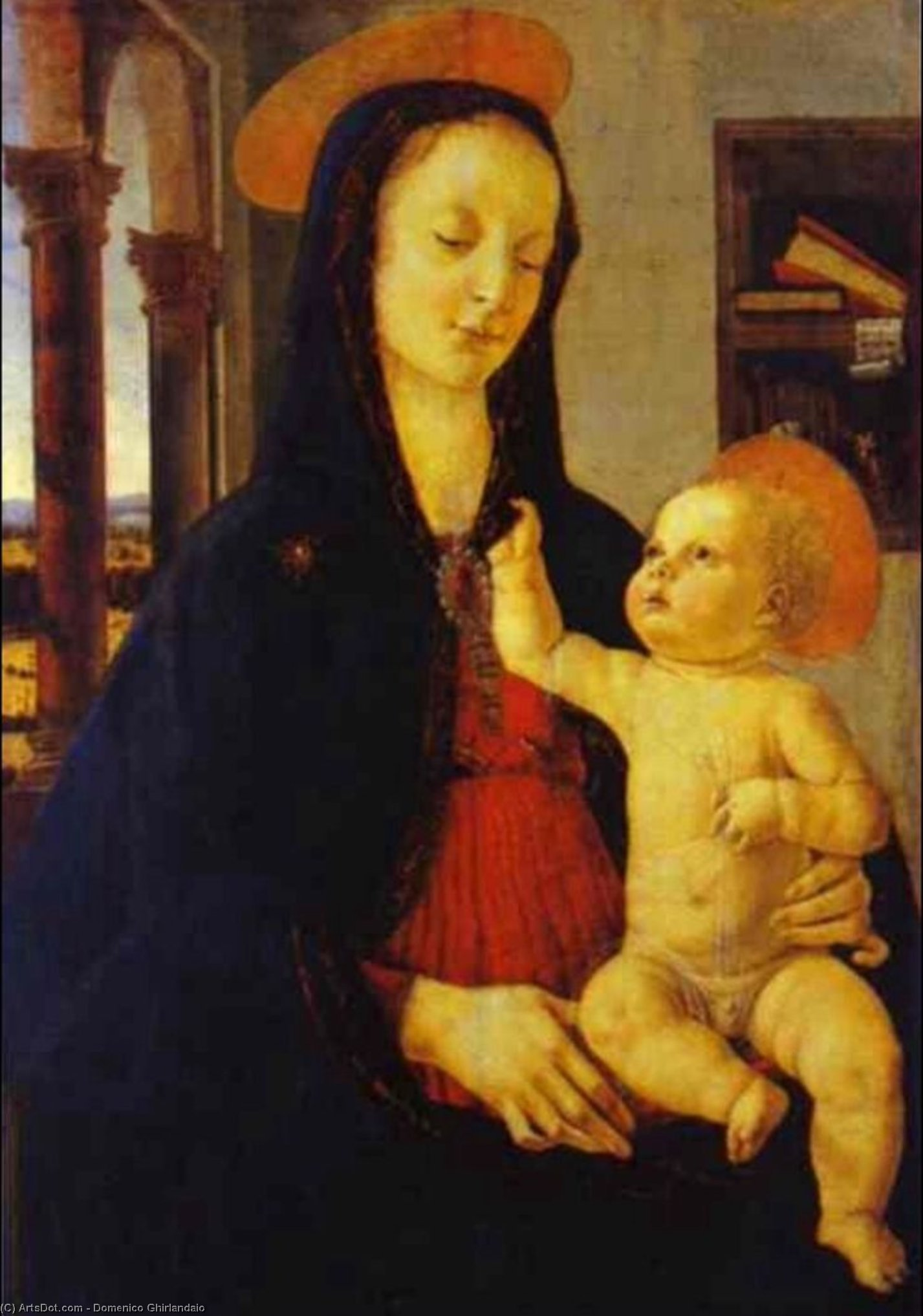 The Virgin and Child by Domenico Ghirlandaio (1449-1494, Italy) | Museum Quality Reproductions | ArtsDot.com