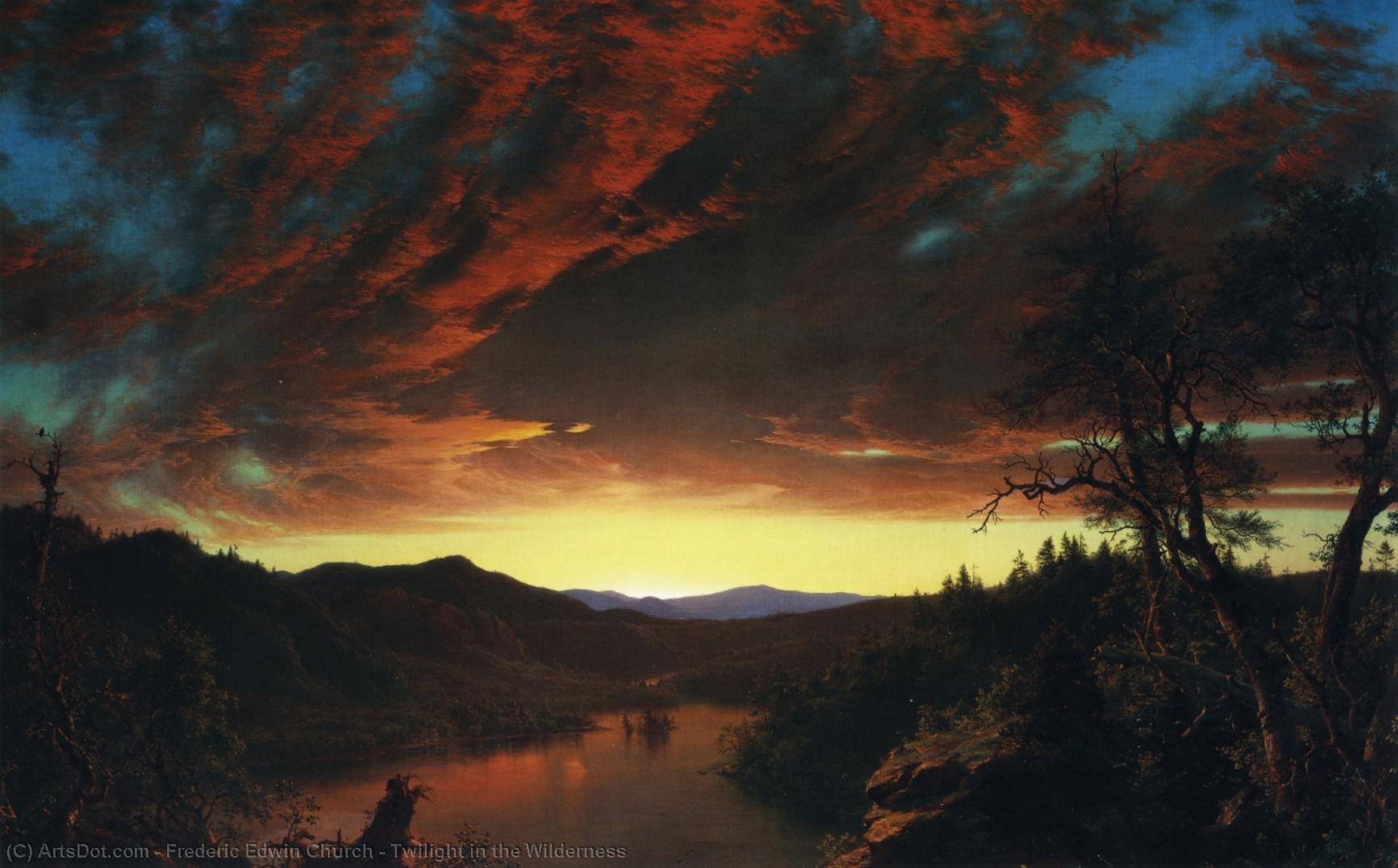 Twilight in the Wilderness, 1860 by Frederic Edwin Church (1826-1900, United States) | Museum Quality Copies Frederic Edwin Church | ArtsDot.com