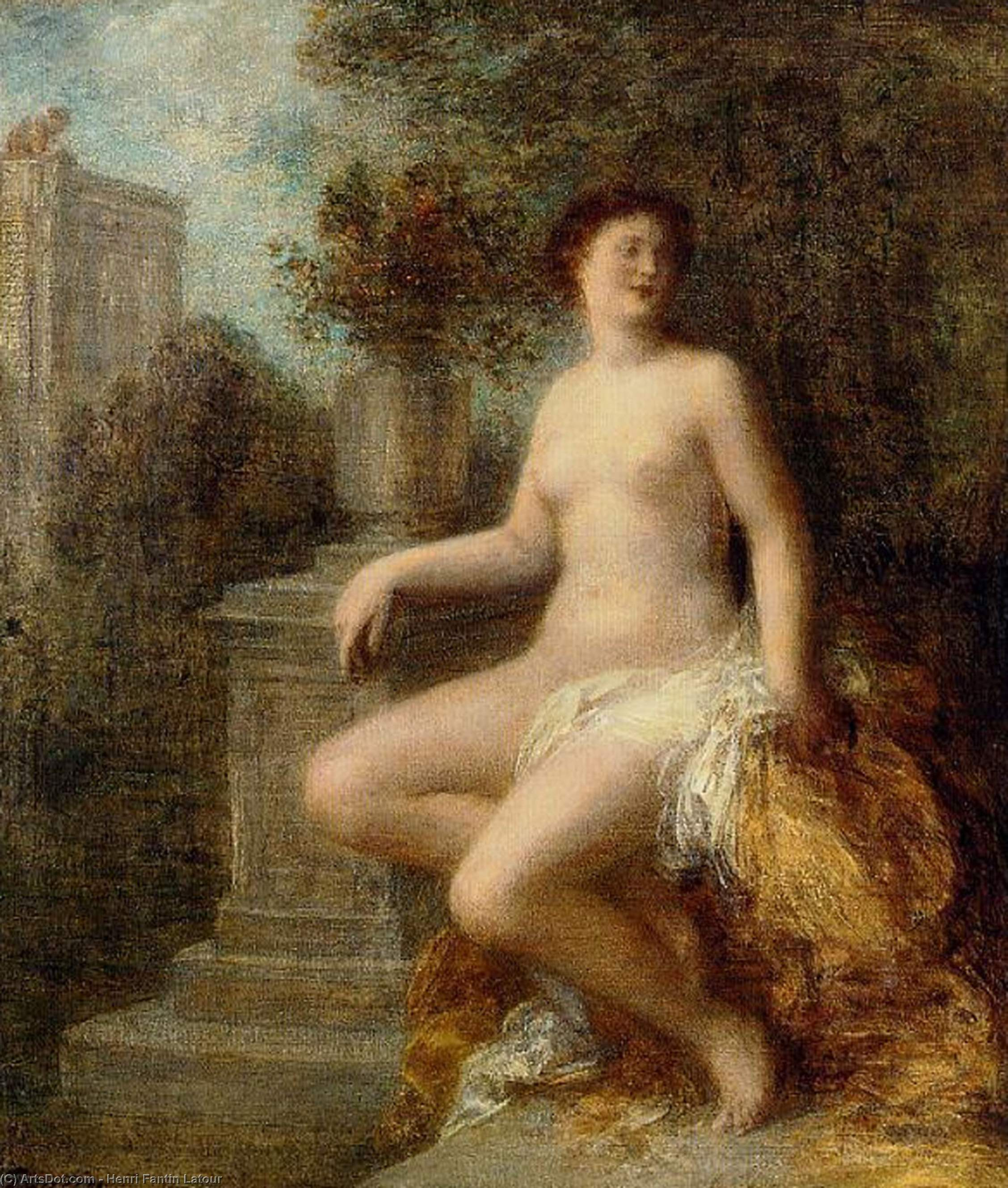 Bathsheba, Oil by Henri Fantin Latour (1836-1904, France)