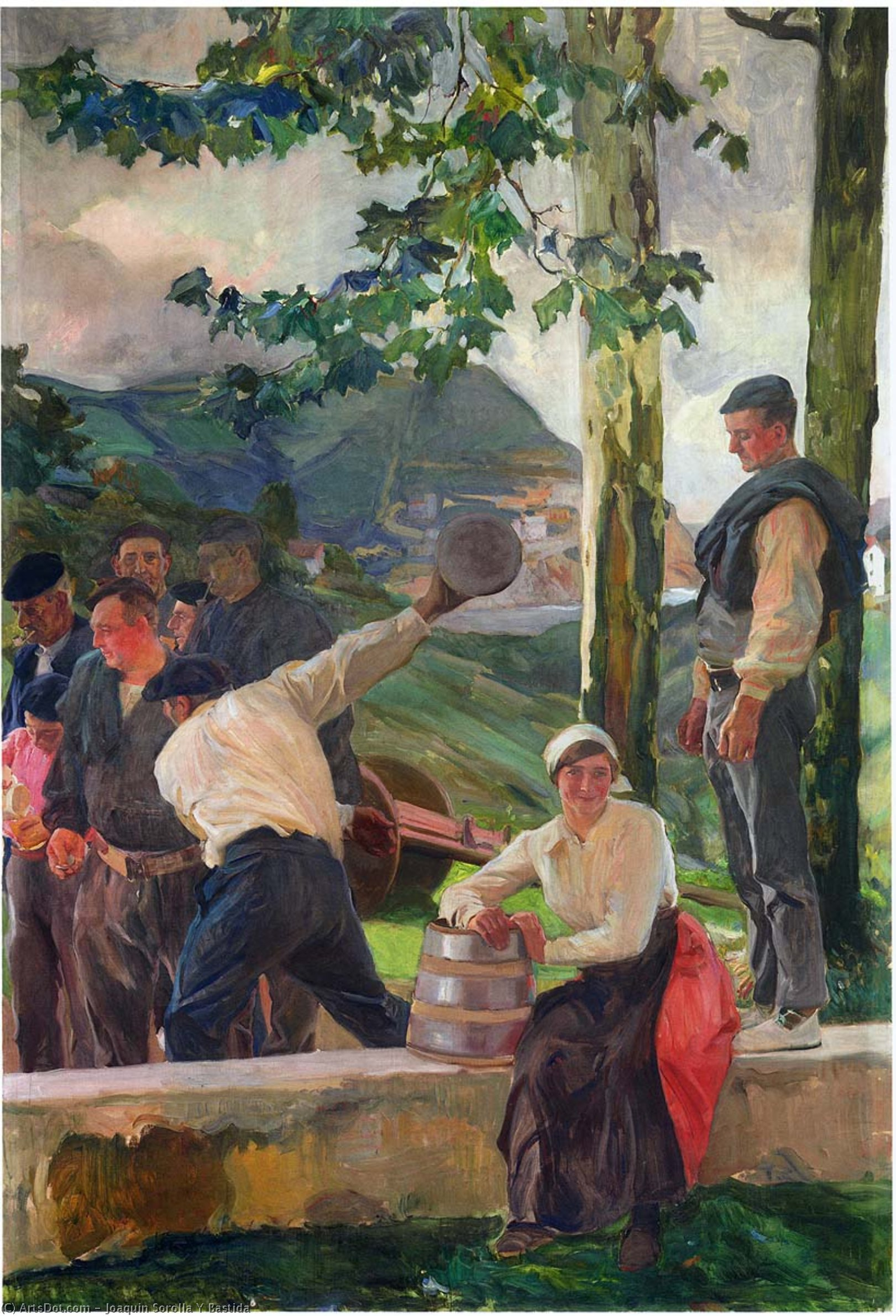 Game of Skittles, Oil On Canvas by Joaquin Sorolla Y Bastida (1863-1923, Spain)