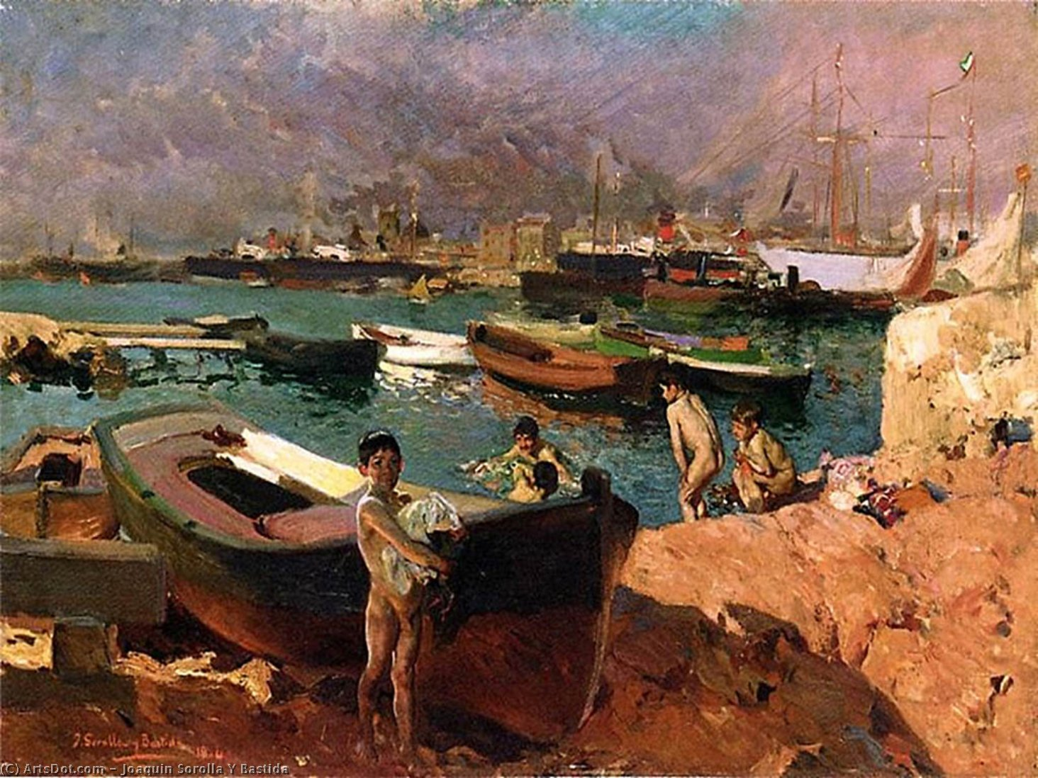 Valencia, Oil On Canvas by Joaquin Sorolla Y Bastida (1863-1923, Spain)