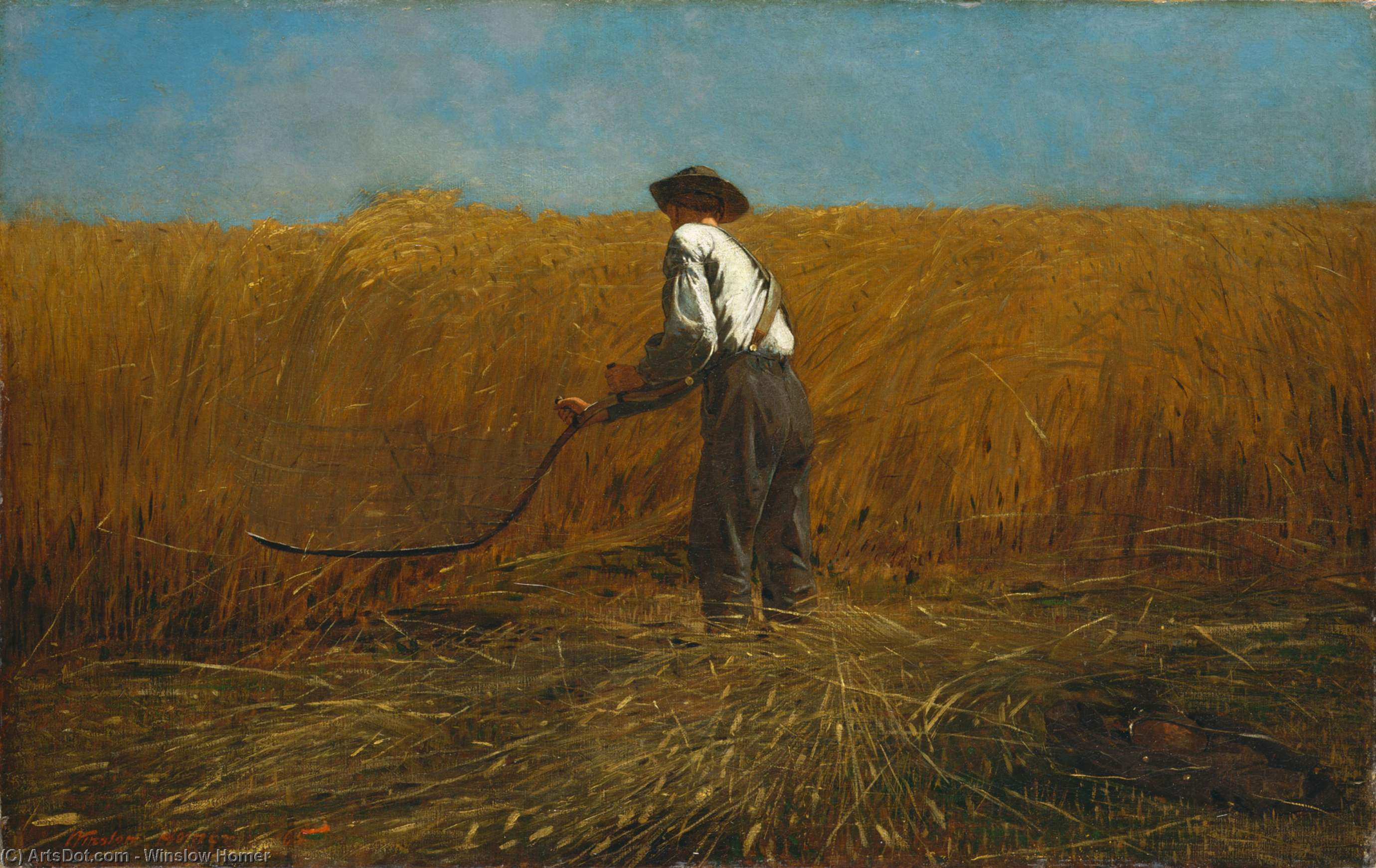 The Veteran in a New Field, 1865 by Winslow Homer (1836-1910, United States) | Museum Quality Copies Winslow Homer | ArtsDot.com