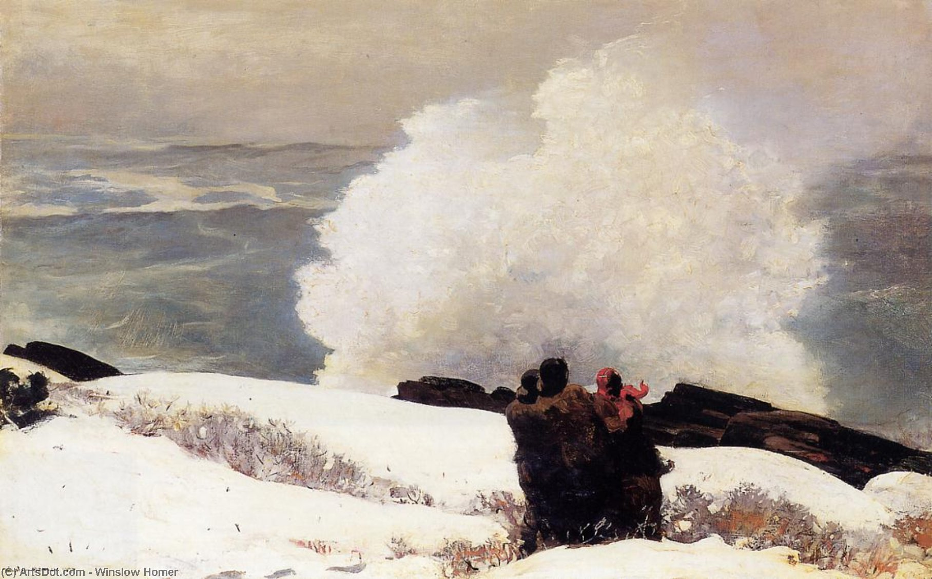 Watching the Breaker - A High Sea, 1896 by Winslow Homer (1836-1910, United States) | Art Reproduction | ArtsDot.com