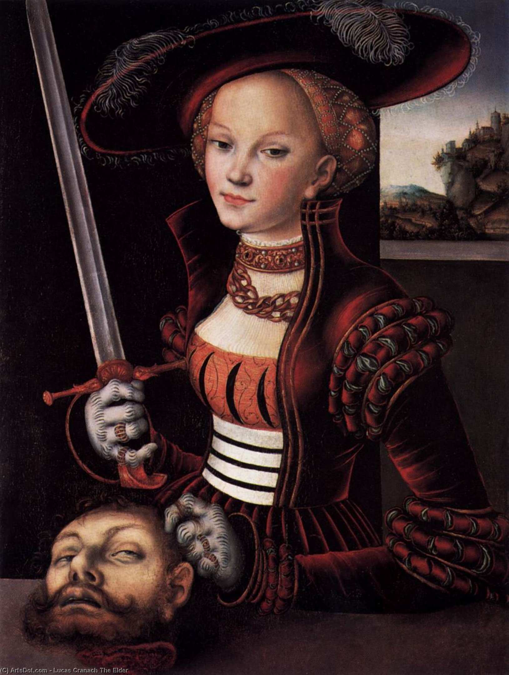 Judith Victorious, 1530 by Lucas Cranach The Elder (1472-1553, Germany) | Art Reproduction | ArtsDot.com