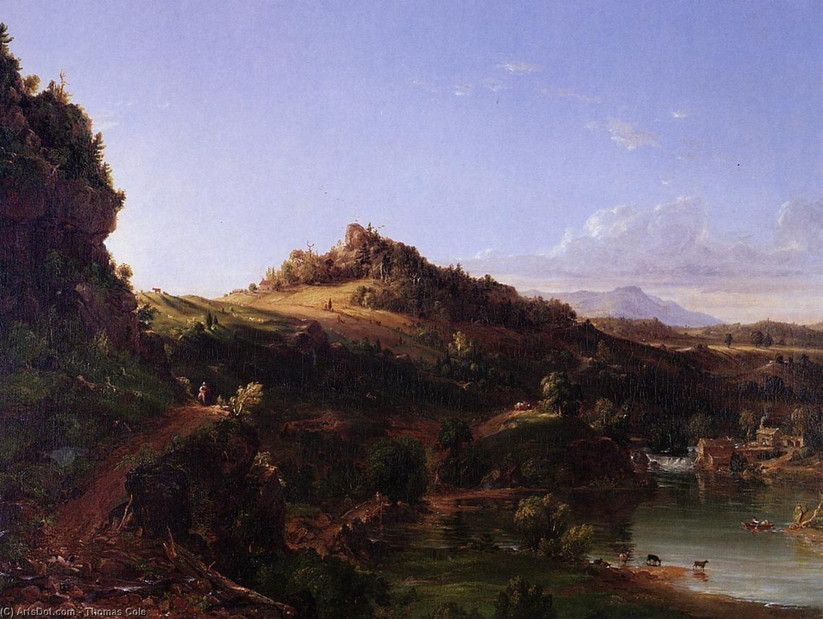 Catskill Scenery, Oil On Canvas by Thomas Cole (1801-1848, United Kingdom)