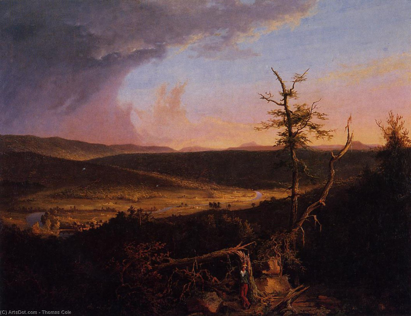 View on the Schoharie, Oil On Canvas by Thomas Cole (1801-1848, United Kingdom)