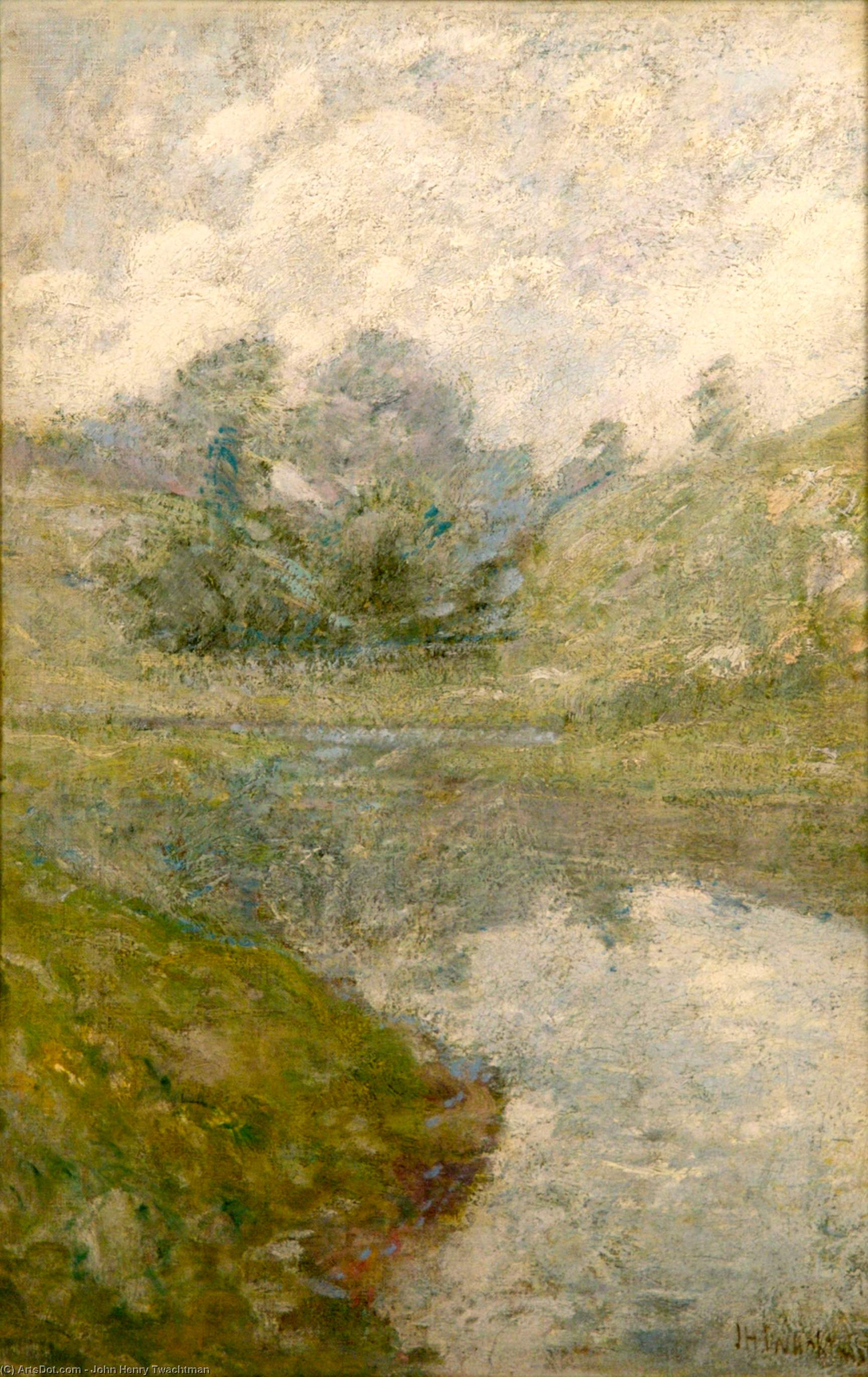 Order Oil Painting : Landscape 3, 1902 by John Henry Twachtman (1853-1902, United States) | ArtsDot.com