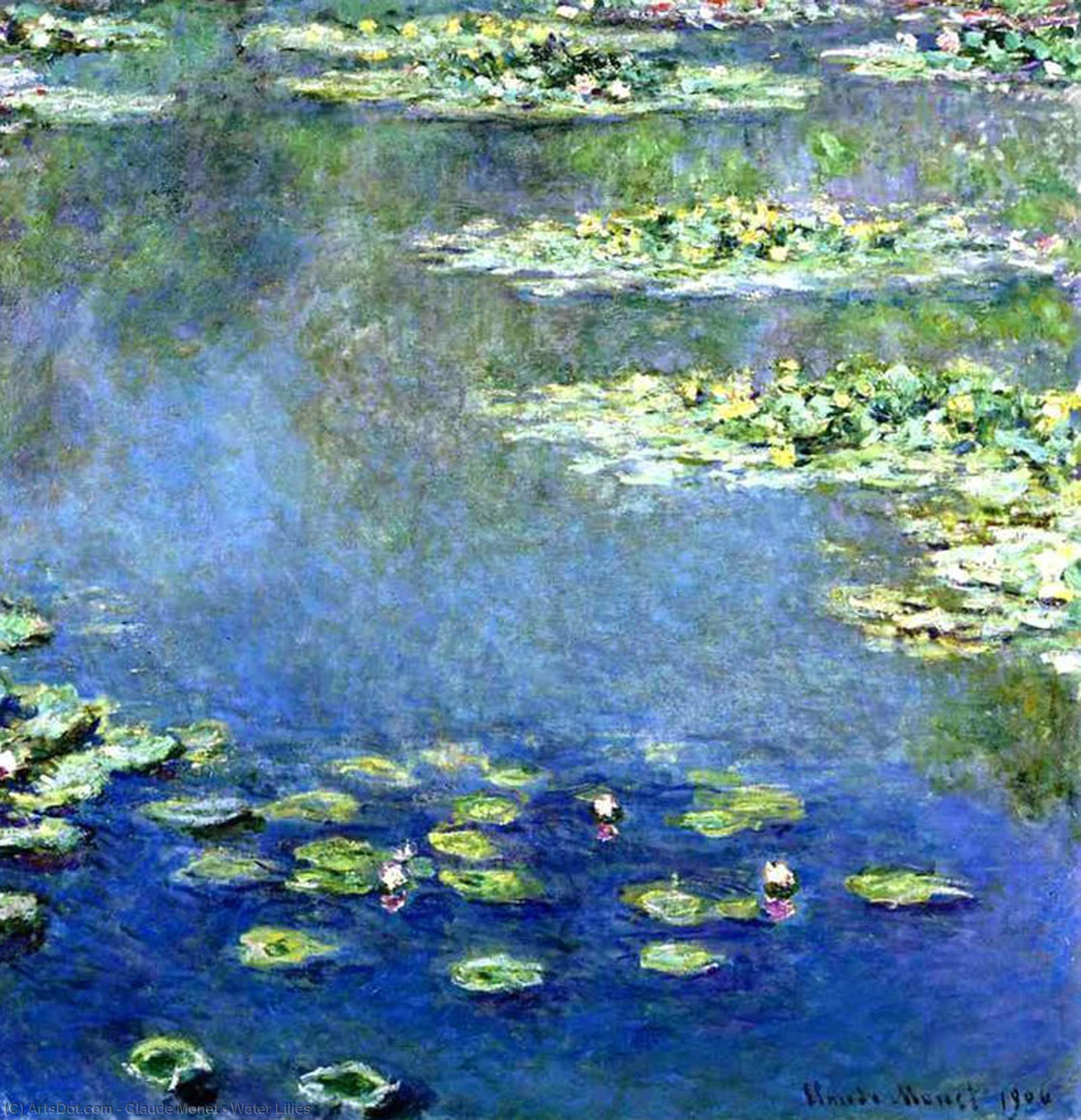 Water Lilies, 1906 by Claude Monet (1840-1926, France) | Art Reproductions Claude Monet | ArtsDot.com