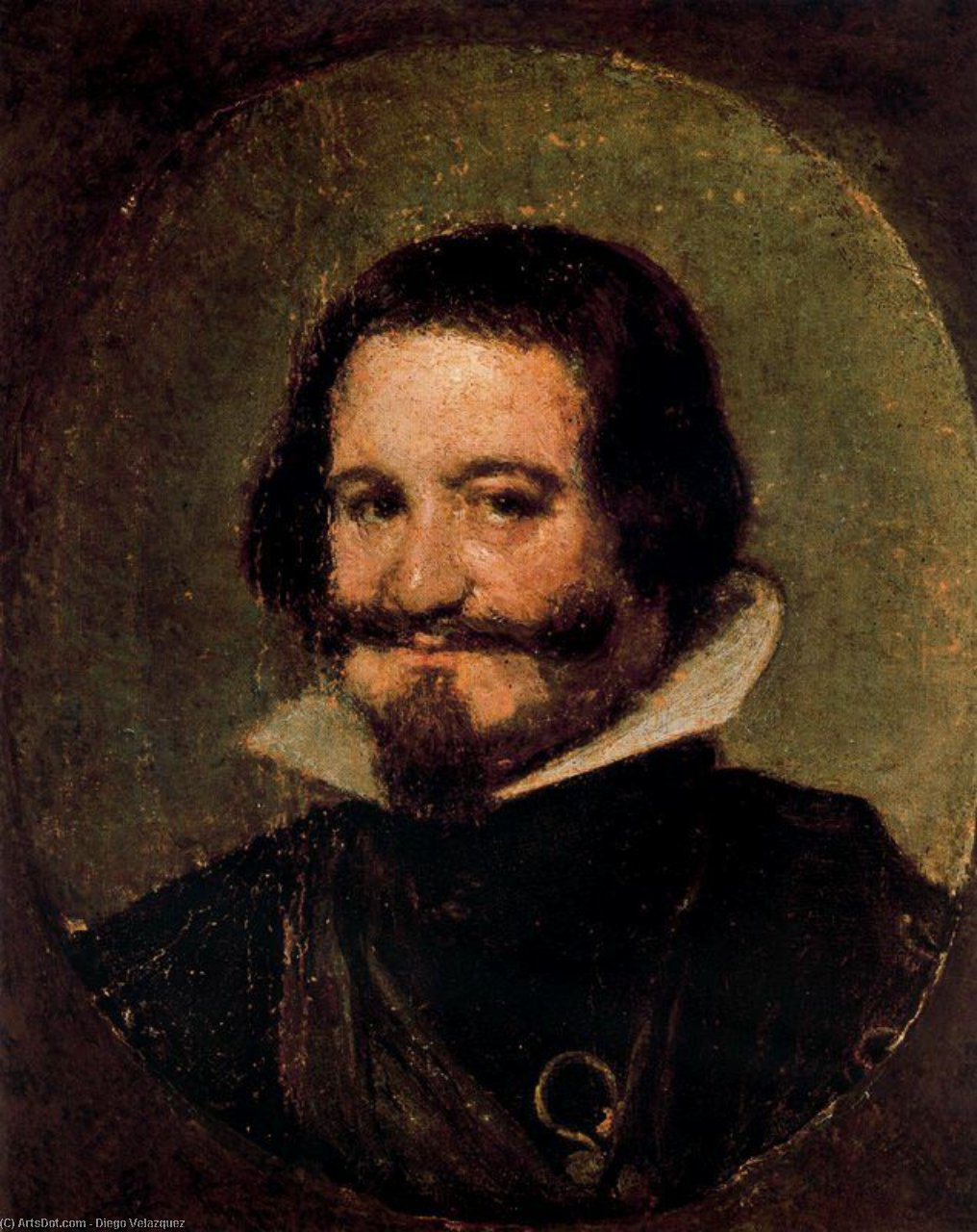 Conde-Duque de Olivares, Oil by Diego Velazquez (1599-1660, Spain)