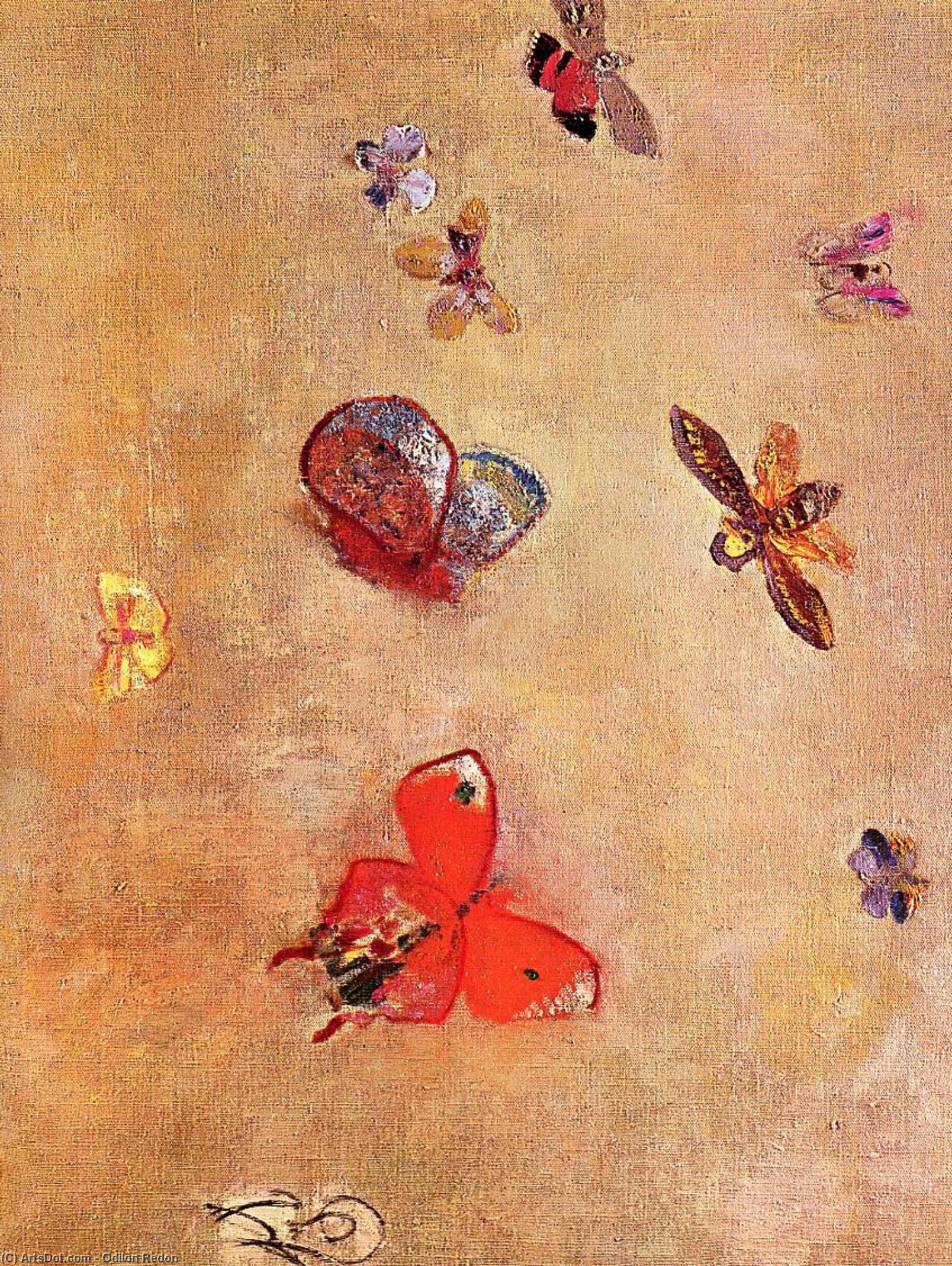 Butterflies, 1913 by Odilon Redon (1840-1916, France) | Art Reproduction | ArtsDot.com