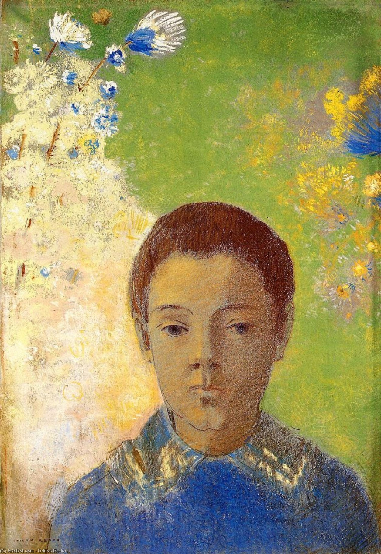 Portrait of Ari Redon, 1898 by Odilon Redon (1840-1916, France) | Oil Painting | ArtsDot.com
