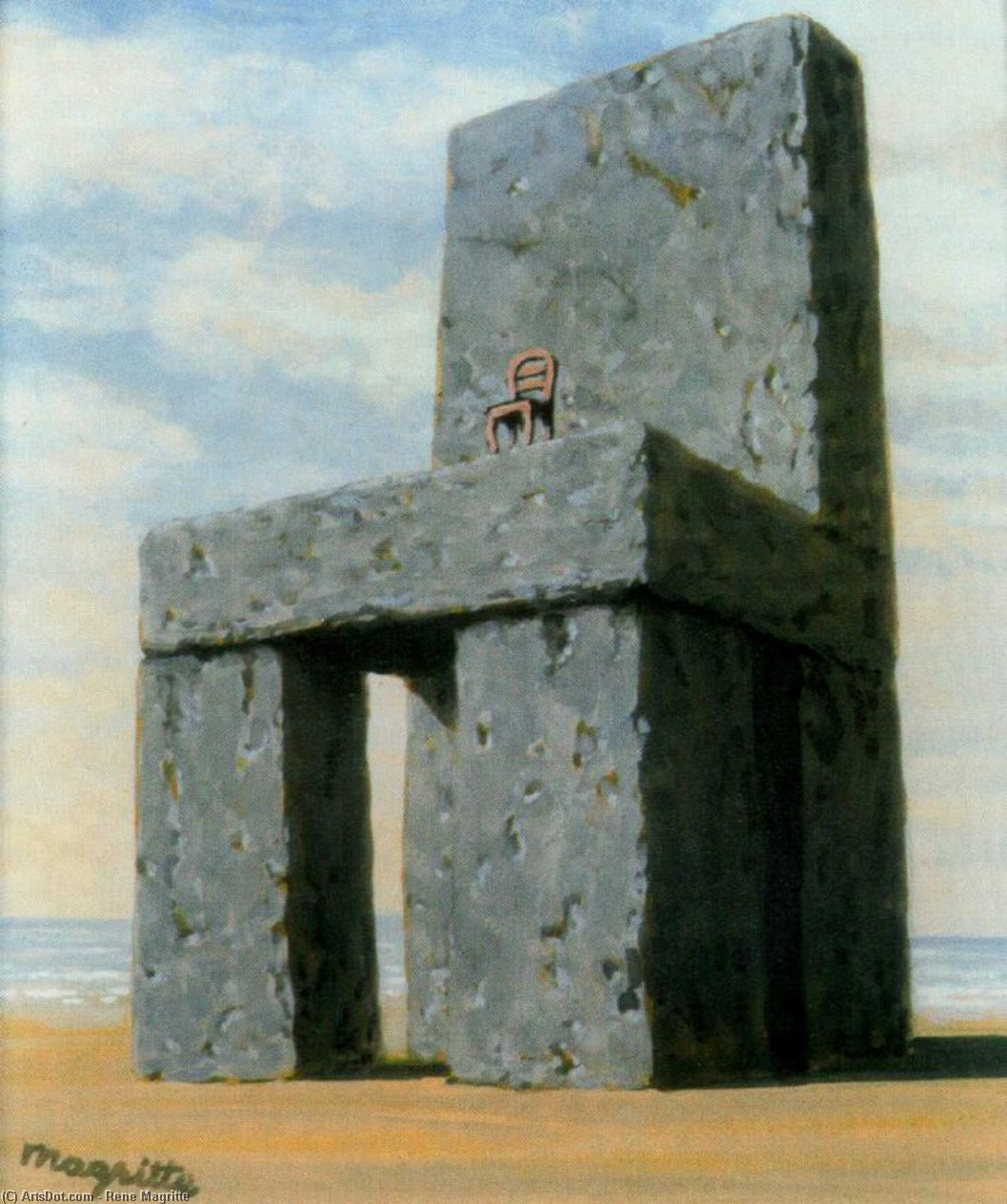 The legend of the centuries, 1950 by Rene Magritte (1898-1967, Belgium)