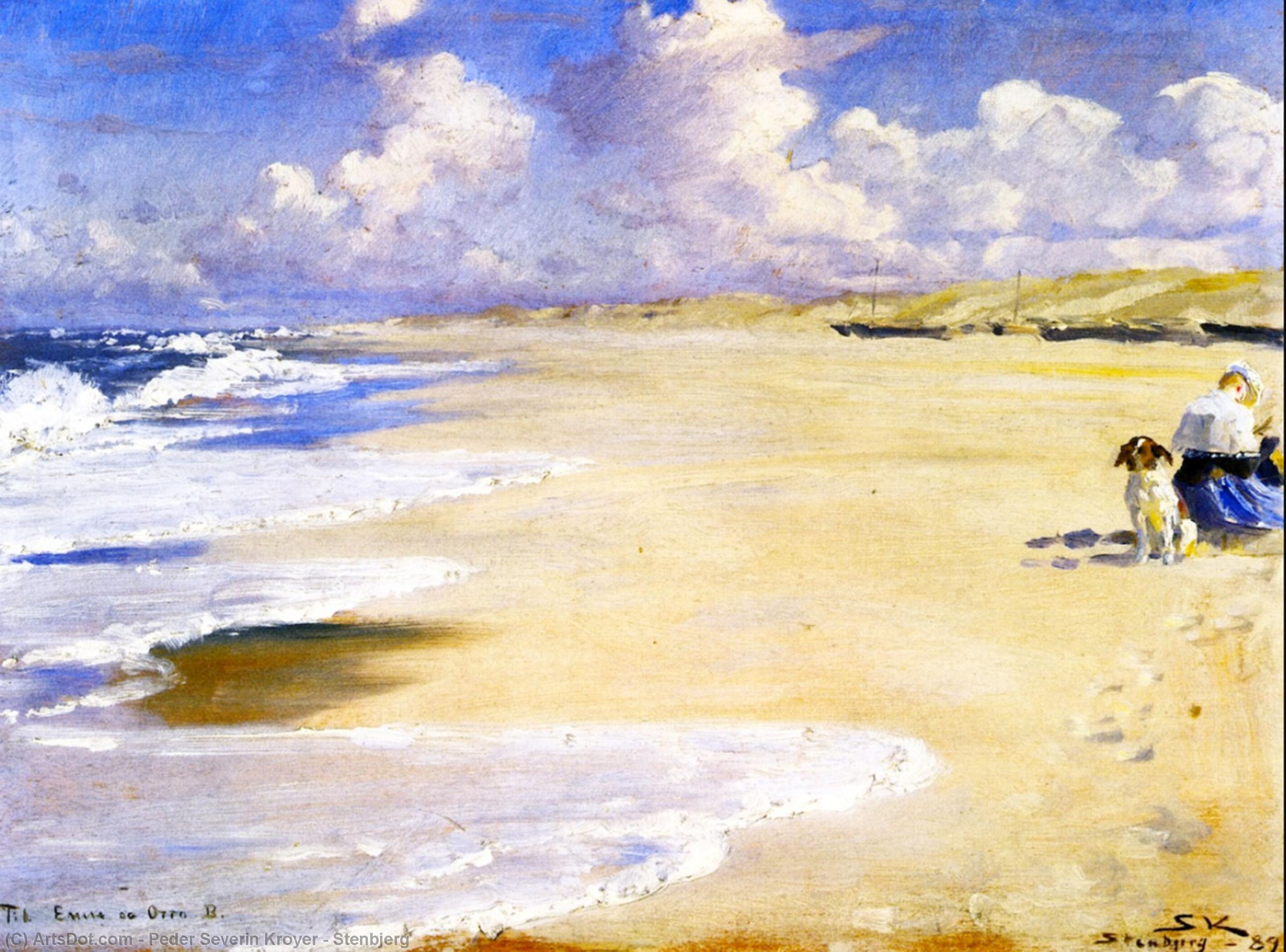 Stenbjerg by Peder Severin Kroyer (1851-1909, Norway) | Museum Quality Reproductions | ArtsDot.com