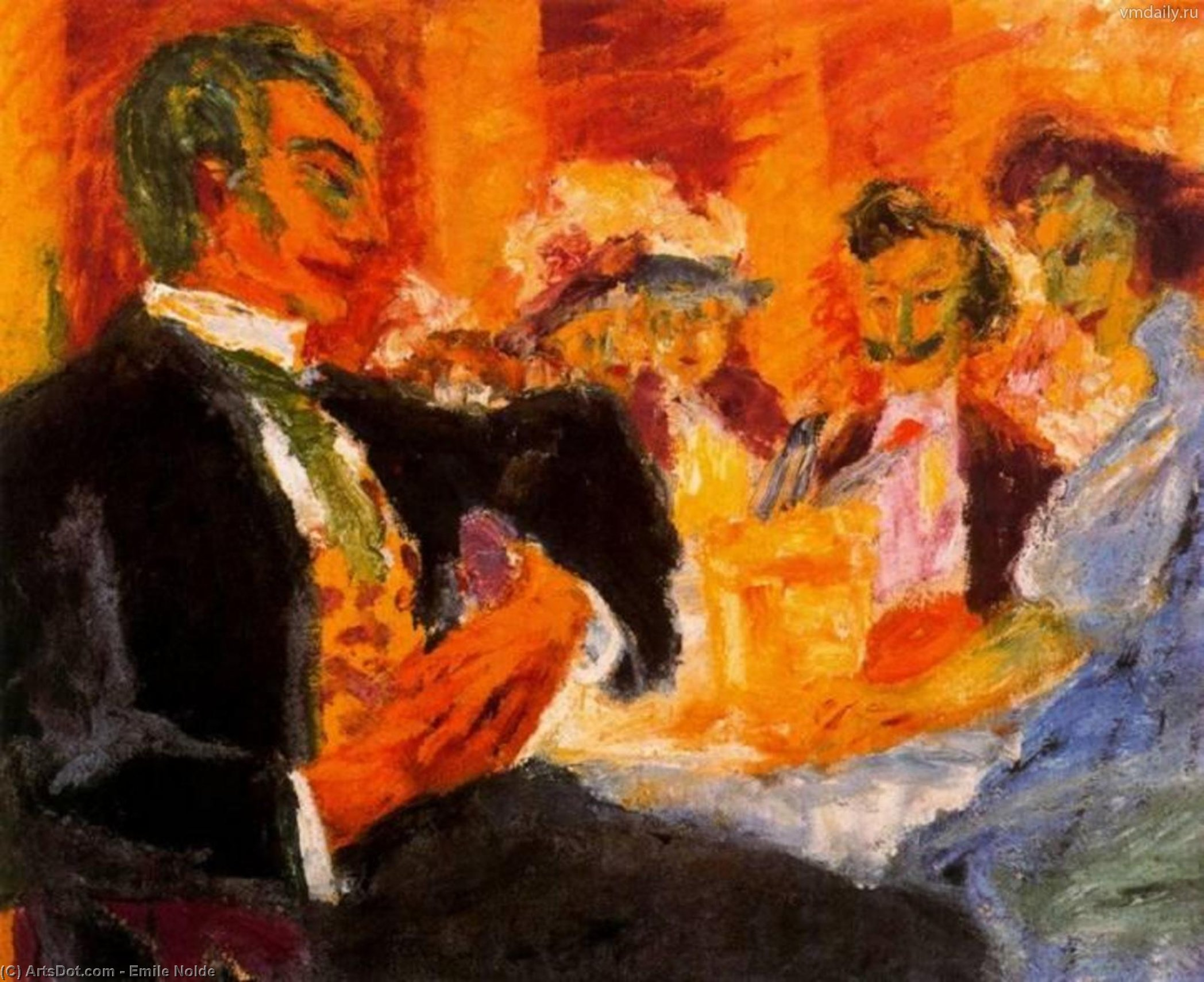 In the coffee by Emile Nolde (1867-1956, Germany)
