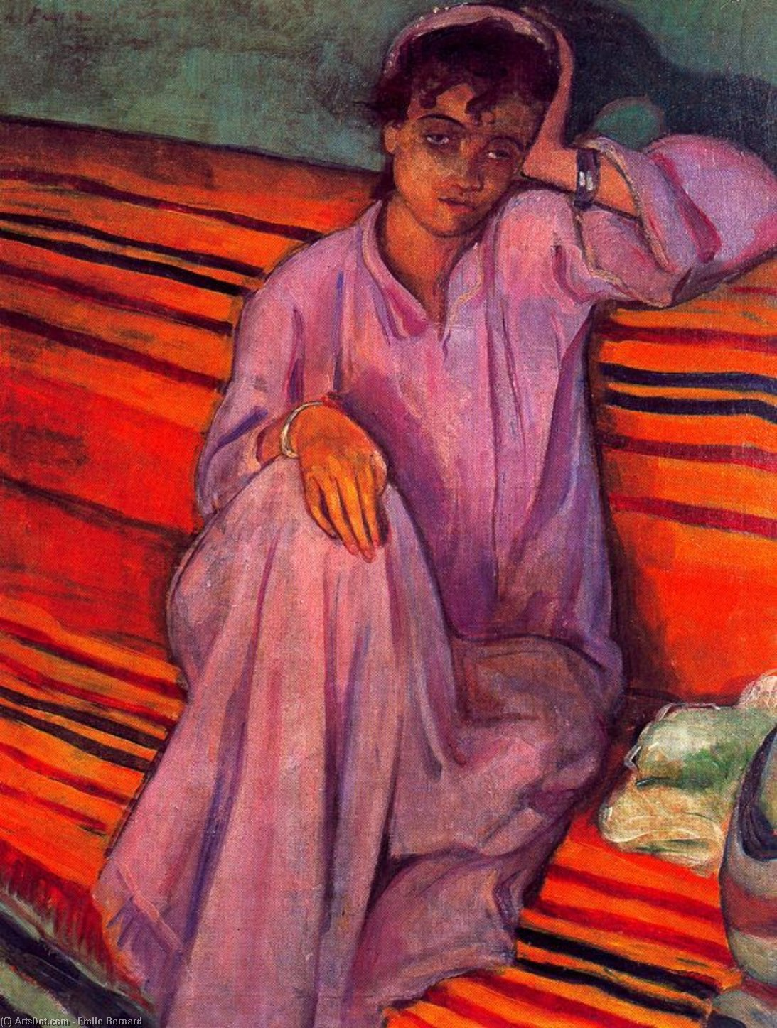 African woman by Emile Bernard (1868-1941, France) | Museum Quality Reproductions | ArtsDot.com
