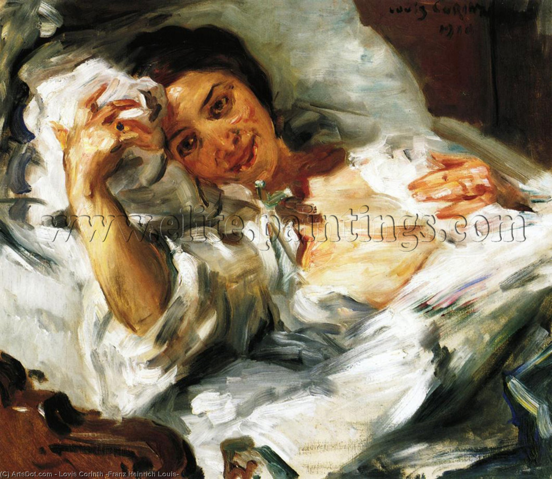 Morning Sun, Oil On Canvas by Lovis Corinth (Franz Heinrich Louis) (1858-1925, Netherlands)