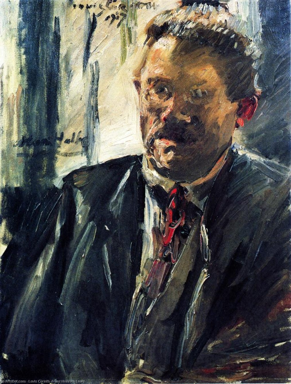 Portrait of Max Halbe, 1917 by Lovis Corinth (Franz Heinrich Louis) (1858-1925, Netherlands) | Museum Art Reproductions | ArtsDot.com