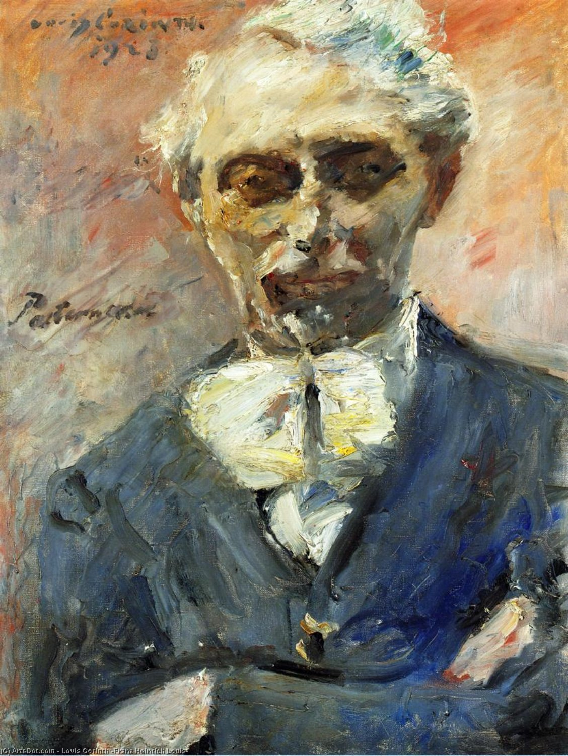 Portrait of the Painter Leonid Pasternak, Oil On Canvas by Lovis Corinth (Franz Heinrich Louis) (1858-1925, Netherlands)