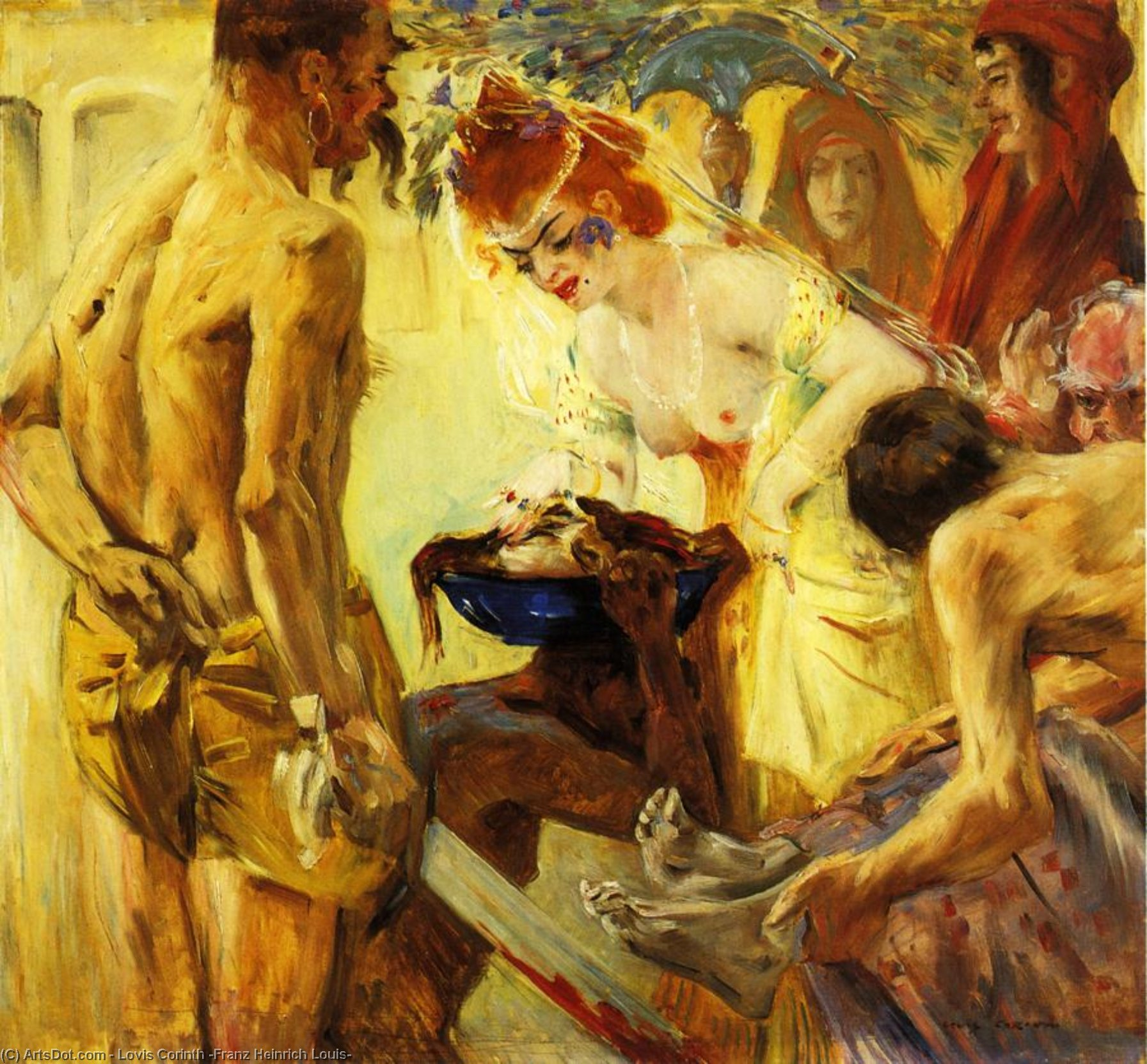 Salome, First Version, Oil On Canvas by Lovis Corinth (Franz Heinrich Louis) (1858-1925, Netherlands)