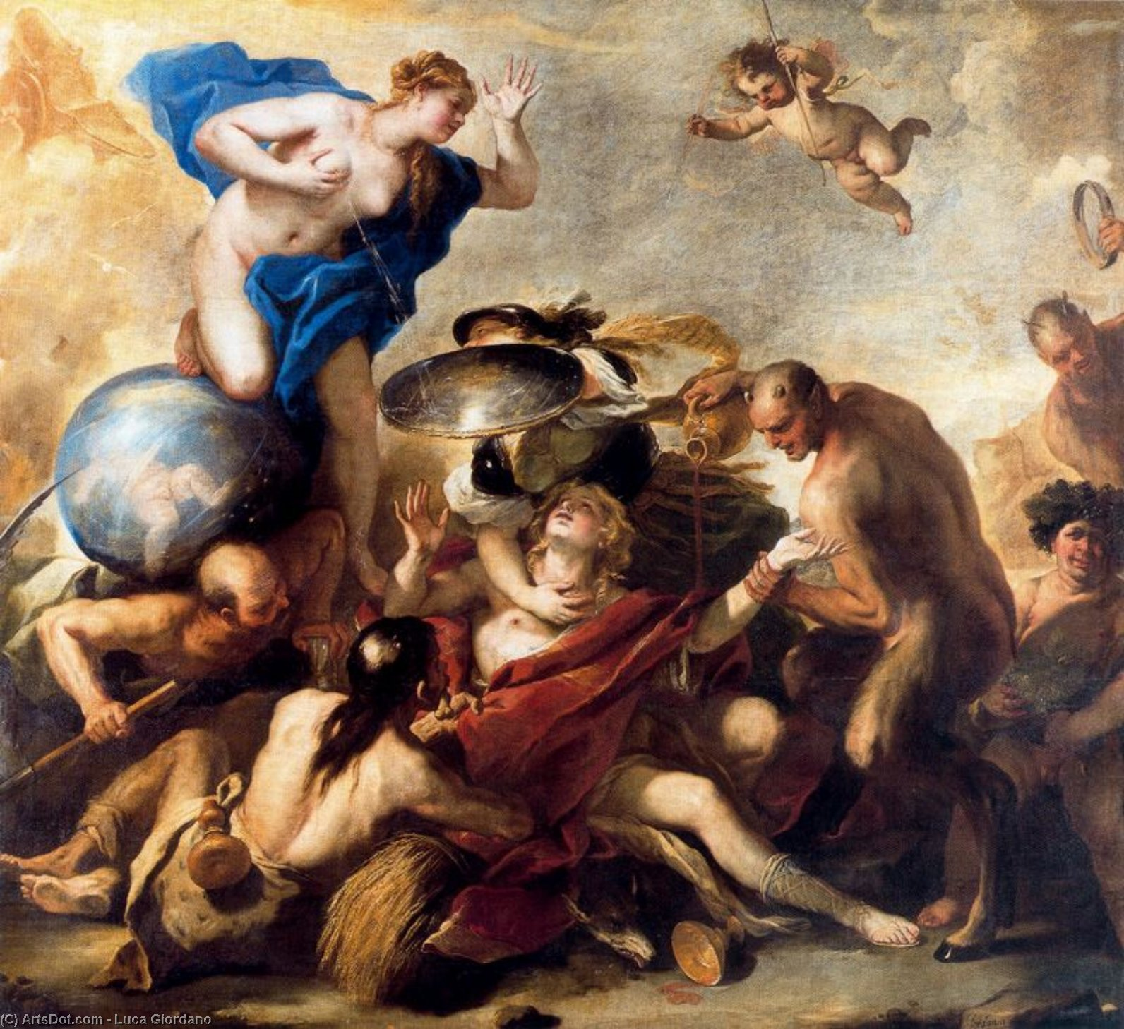 The attempt by the youth services by Luca Giordano (1634-1705, Italy)