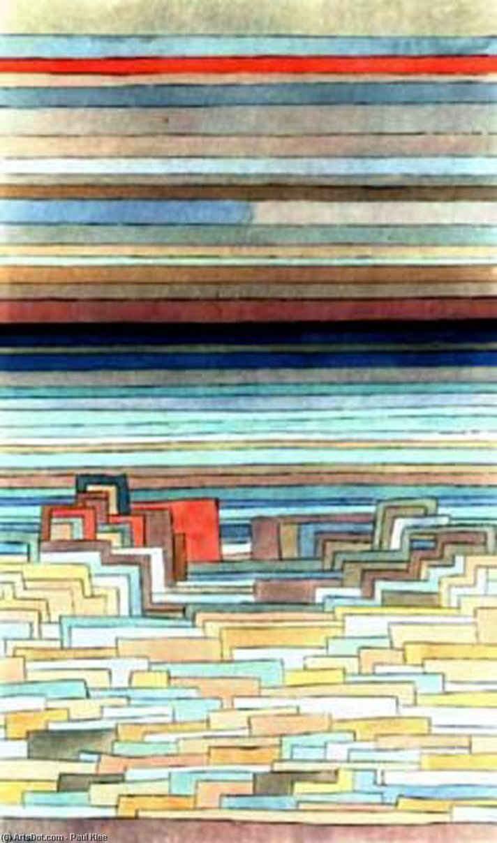 Order Museum Quality Reproductions : City on a Lagoon by Paul Klee (1879-1940, Switzerland) | ArtsDot.com