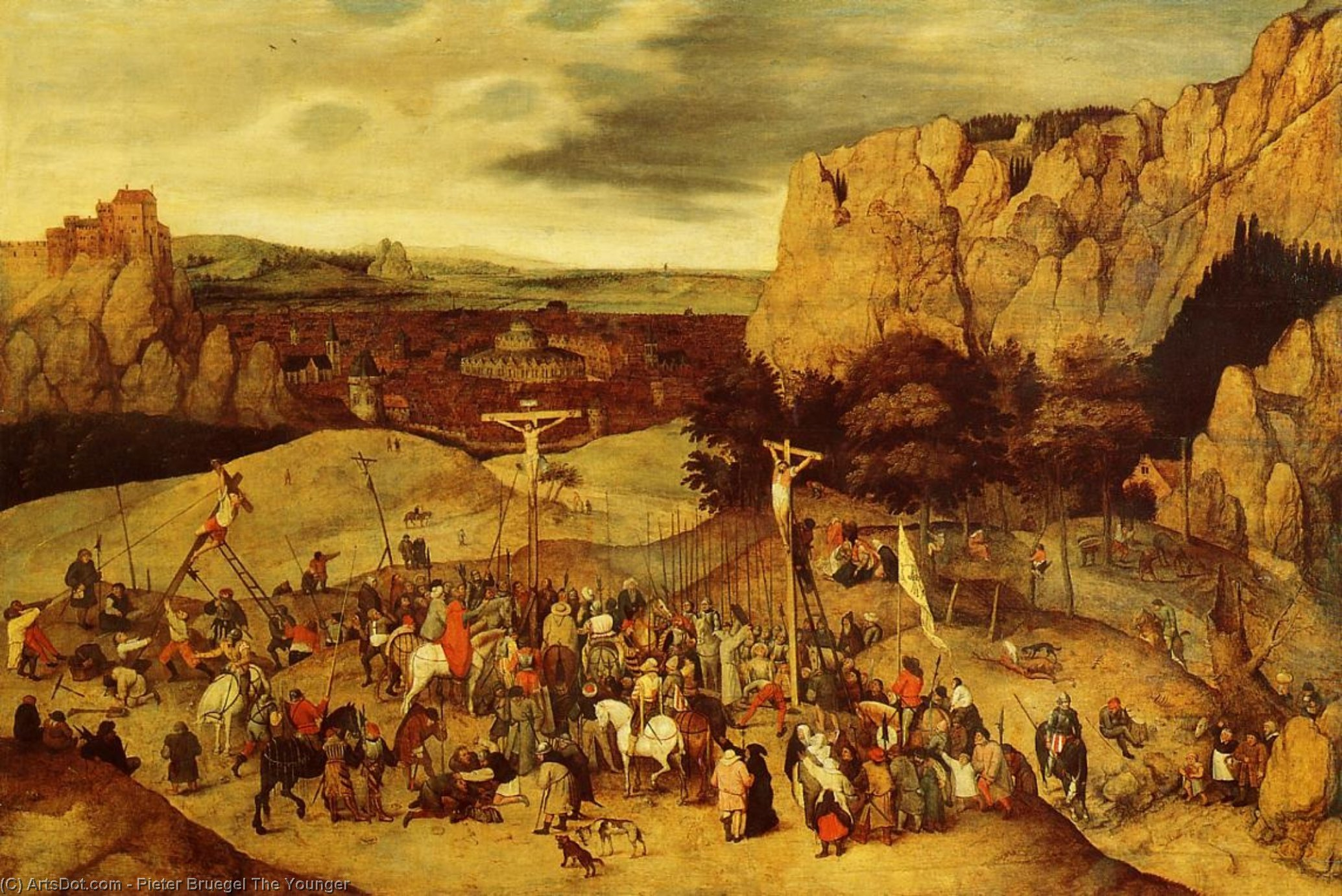 Order Art Reproductions | Calvary by Pieter Bruegel The Younger (1525-1569, Belgium) | ArtsDot.com