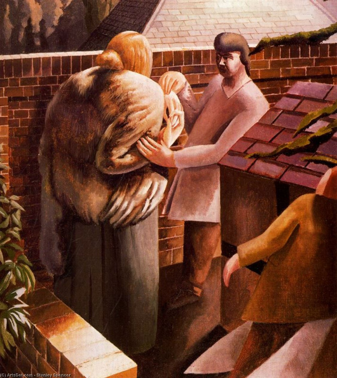The Meeting by Stanley Spencer (1891-1959, United Kingdom)