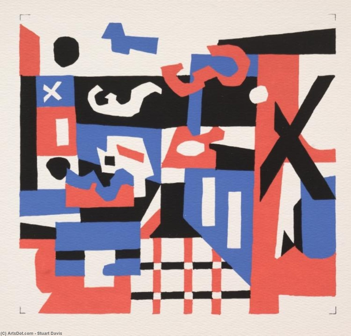 Study for a Drawing by Stuart Davis (1892-1964, United States) |  | ArtsDot.com